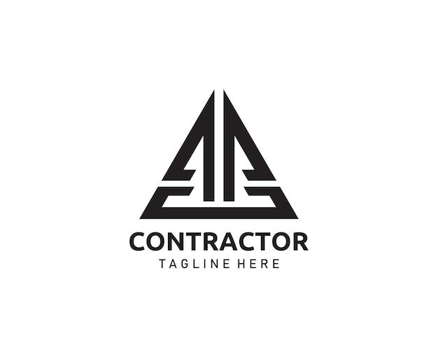 Abstract a, p, ap real estate and contractor concept logo design.