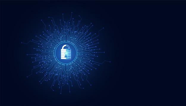 抽象的な南京錠のサイバーセキュリティの概念情報の保護