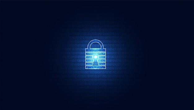 抽象的な南京錠サイバーセキュリティオンラインでの情報の保護