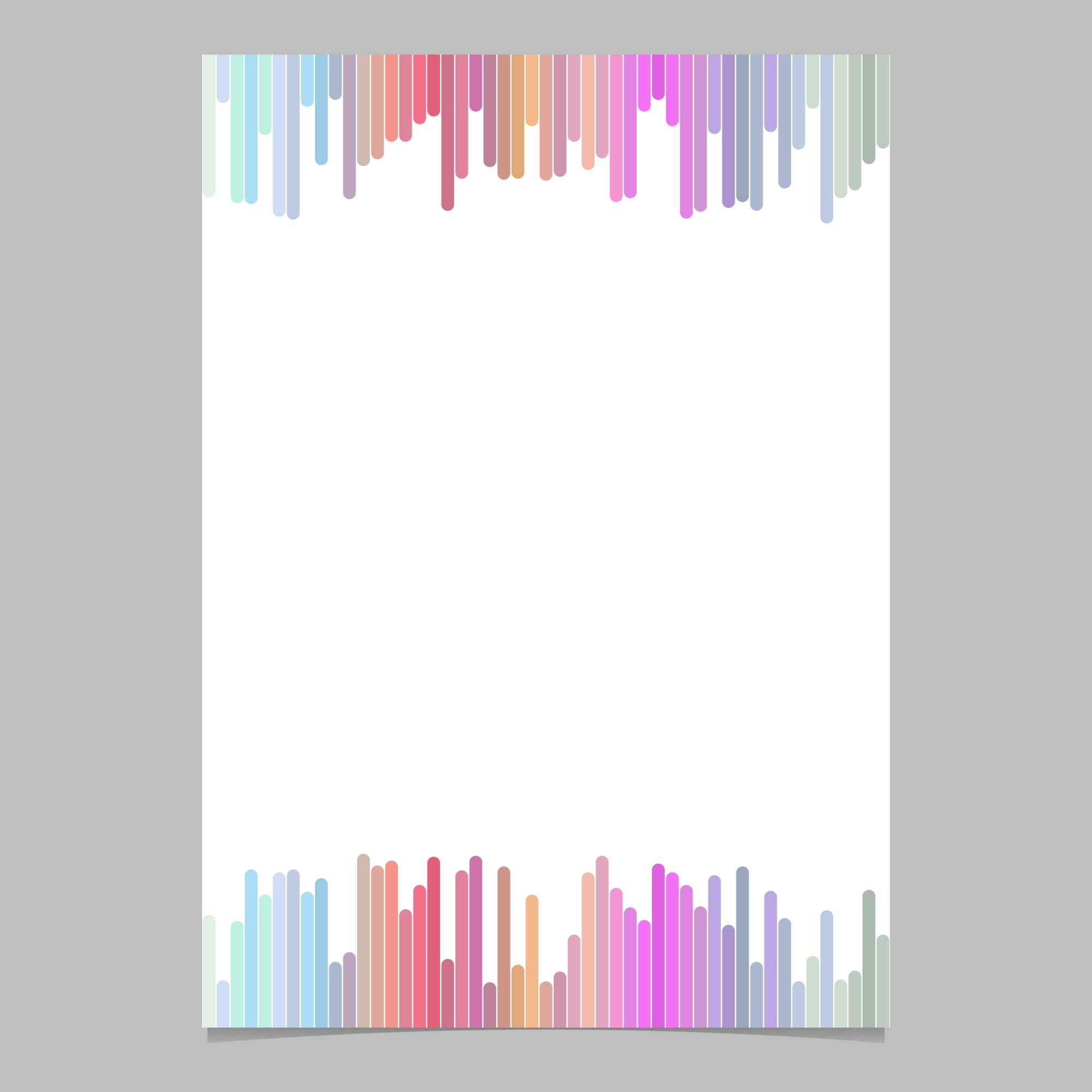 Abstract page template from vertical stripes - vector brochure illustration with white background