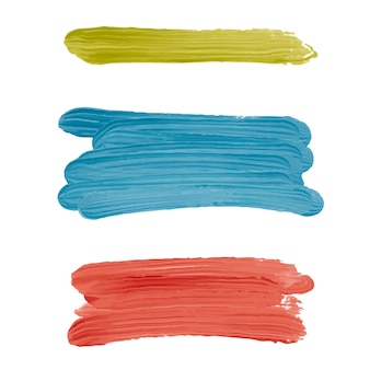 Abstract paint brushes in different colors