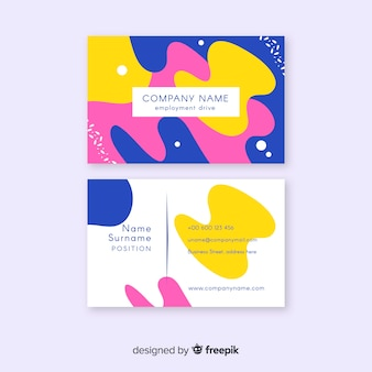 Abstract paint business card template