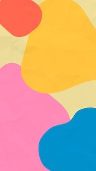 Абстрактные краски мобильные обои фон вектор, красочные текстуры бумаги