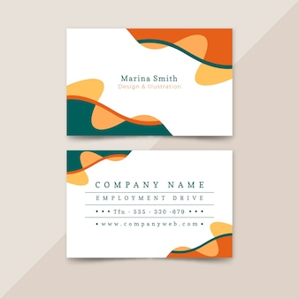 Abstract painted business card collection template