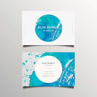 Abstract painted business card concept