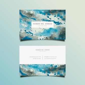 Окрашенный дизайн визитной карточки