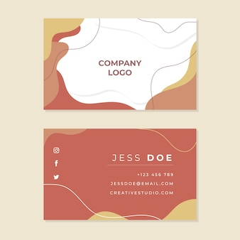 Abstract painted business card pack template