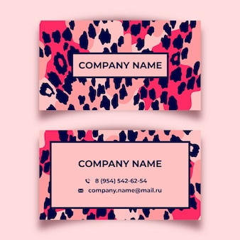Abstract painted business card set template