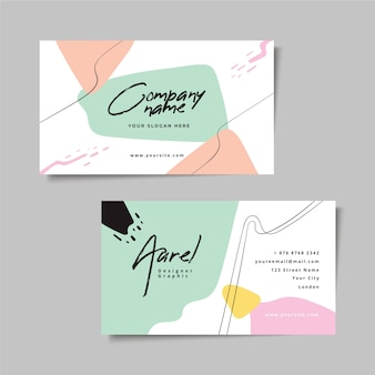 Abstract painted business card style
