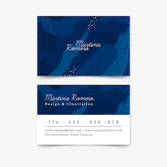 Abstract painted business card template collection