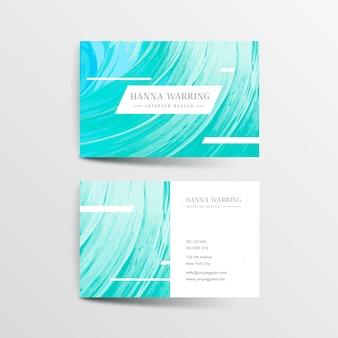 Абстрактный шаблон окрашенные визитной карточки