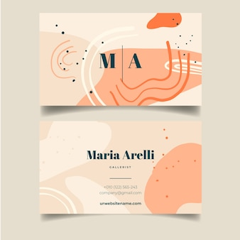 Abstract painted business card template concept