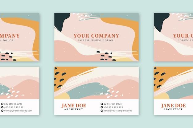 Абстракция окрашенный дизайн визитной карточки