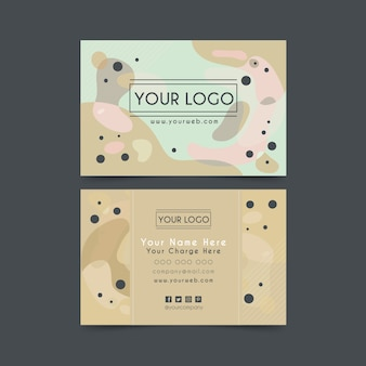 Abstract painted business card template pack
