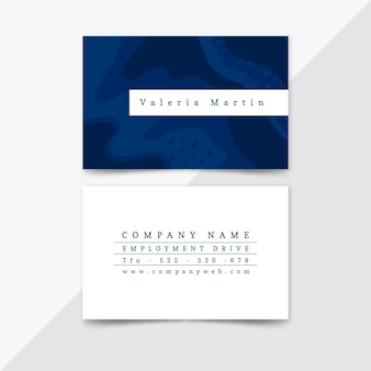 Abstract painted business card template set
