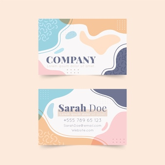 Abstract painted business card templatetheme