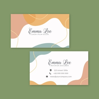 Abstract painted business card template theme