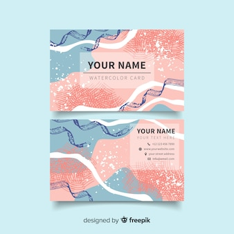 Abstract painted business card template