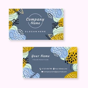 Абстрактный окрашенный шаблон визитной карточки
