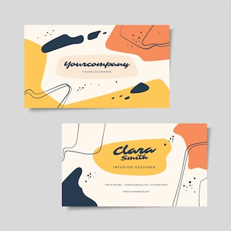 Abstract painted business card theme