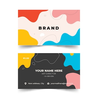 Abstract painted business card