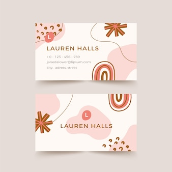 Abstract painted company card