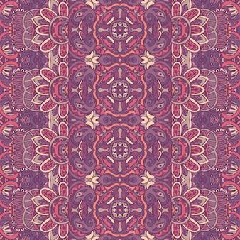 抽象的なペイズリー シームレス パターン。エスニック ヴィンテージ ラベンダーの幾何学的なプリント。