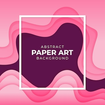 Abstract paper art colorful gradient background