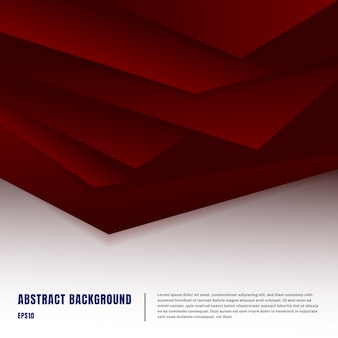 Abstract paper art style red background