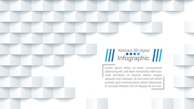 Abstract paper background origami with text block template.