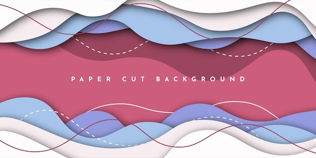 Abstract paper cut background template design