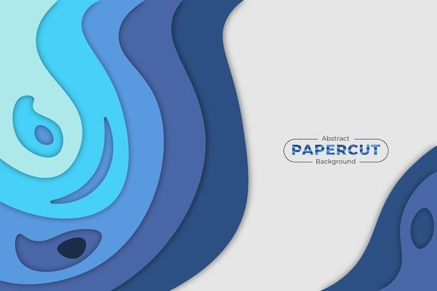Аннотация бумаги вырезать синий фон