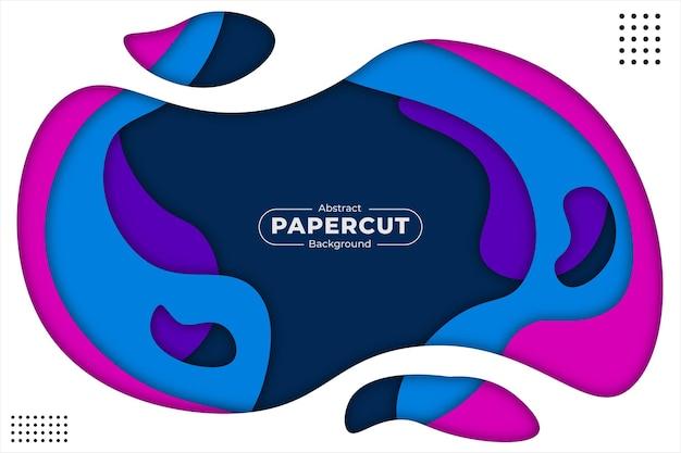 Абстрактная бумага вырезать красочный фон