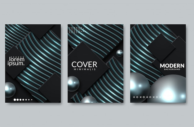 Abstract paper cut cover design. vector creative illustration
