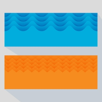 Abstract paper cut overlapping background in two color options.