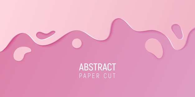 Abstract paper cut slime background.