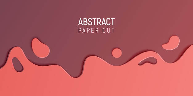 Abstract paper cut slime background