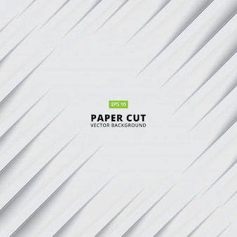 Abstract paper cut white background