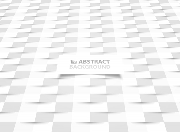 Abstract paper cut white paper design with shadow style presentation.