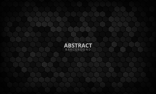 Abstract paper hexagon black background