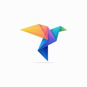 抽象的な紙鳩コンセプトイラストベクトルデザインテンプレート