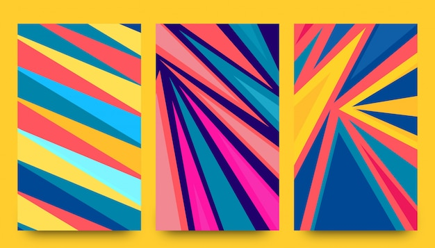 Abstract paper rocket shapes background