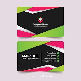 Abstract paper style business card template