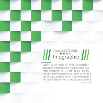 Абстрактный бумажный шаблон - стиль оригами