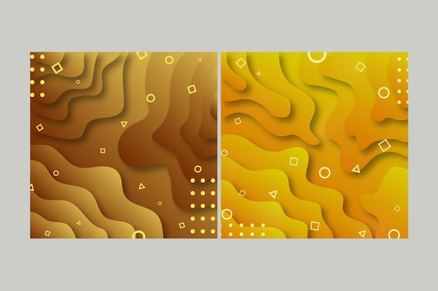 Abstract paper waves background