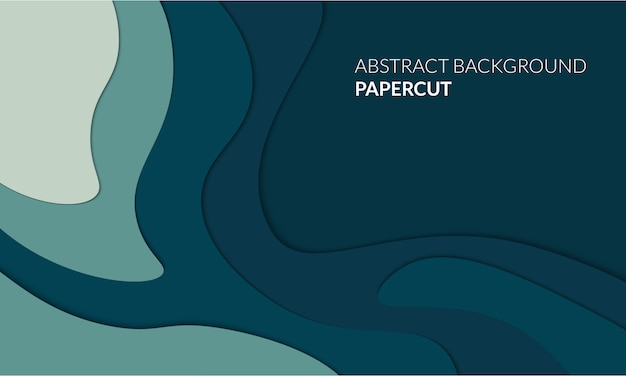 Abstract papercut 3d background