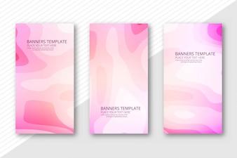 Abstract papercut header set template design
