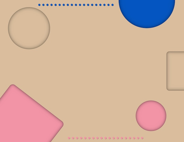 Abstract papercut pink, blue gradient background poster
