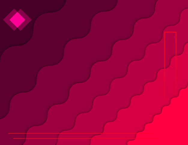 Abstract papercut pink gradient background poster poster