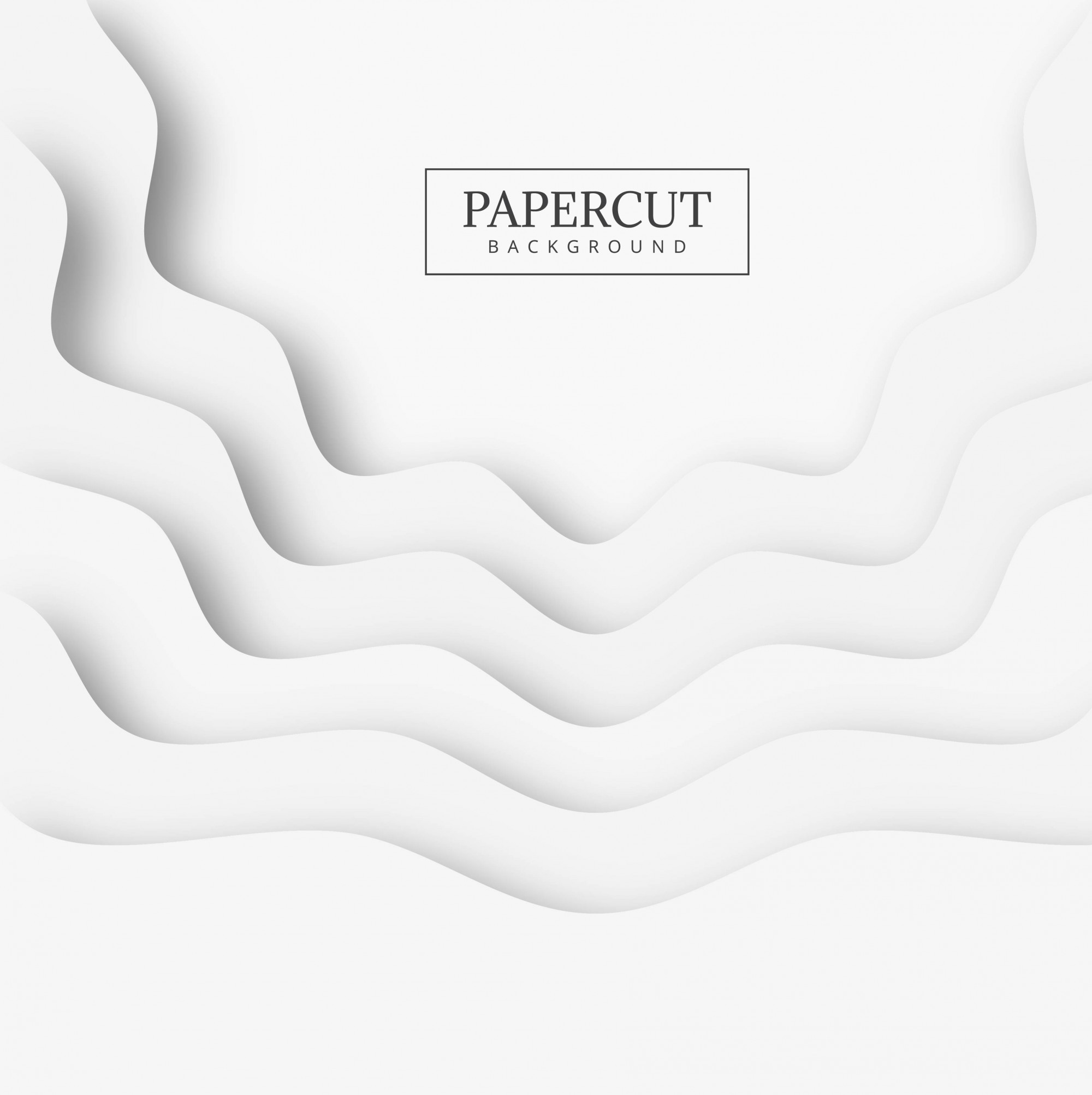 Abstract papercut shape background